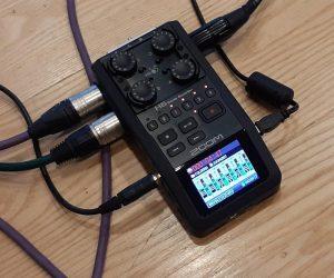 Videopodcast-tuotantoa asiakkaan luona - Zoom H4 -nauhuri